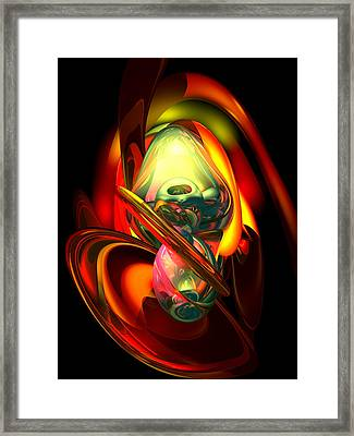 Raw Fury Abstract Framed Print by Alexander Butler