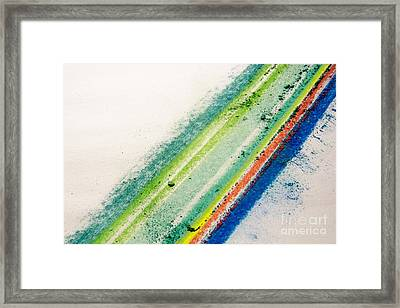 Framed Print featuring the pastel Raw by Kristine Nora