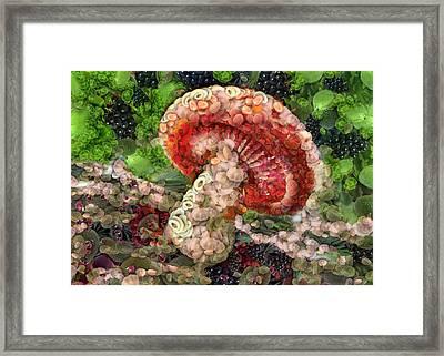 Raw Mushroom Framed Print by Catherine Lott