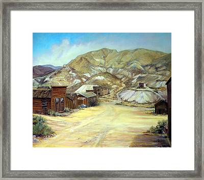 Rawhide Nevada Framed Print by Evelyne Boynton Grierson