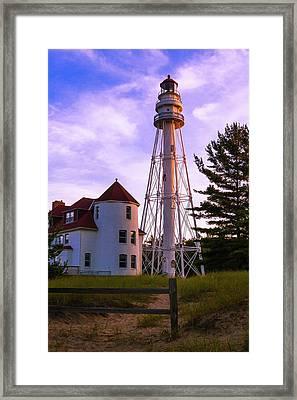 Rawley Point Lighthouse Framed Print by Chuck De La Rosa