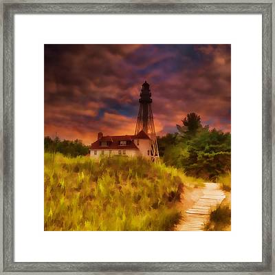 Rawley Point Lighthouse Framed Print