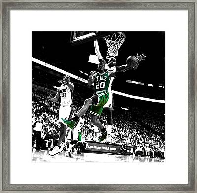 Ray Allen 2c Framed Print by Brian Reaves