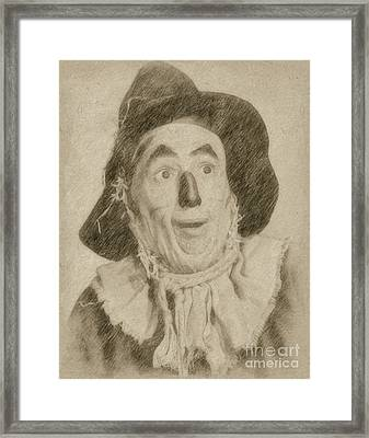 Ray Bolger, Scarecrow, Wizard Of Oz Framed Print by Frank Falcon