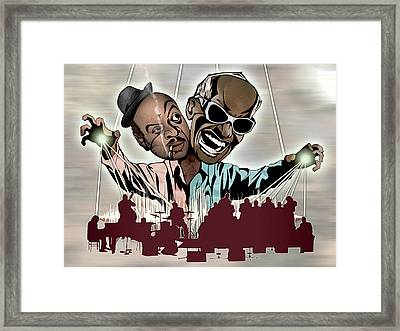 Ray Charles And Count Basie - Reanimated Framed Print by Sam Kirk