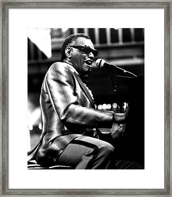 Ray Charles, Ca. 1980 Framed Print by Everett