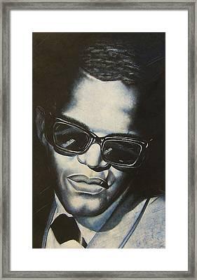 ray Charles Framed Print by Darryl Matthews