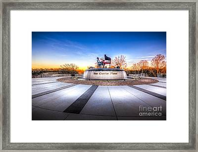 Ray Charles Plaza Framed Print