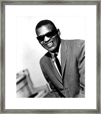 Ray Charles, Portrait Ca. 1966 Framed Print by Everett