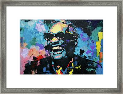 Framed Print featuring the painting Ray Charles by Richard Day