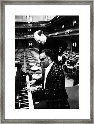 Ray Charles, With Conductorcomposer Framed Print by Everett