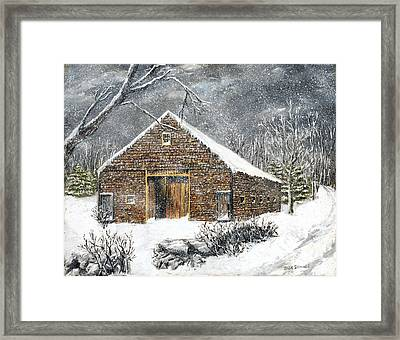 Ray Emerson's Old Barn Framed Print by Jack Skinner