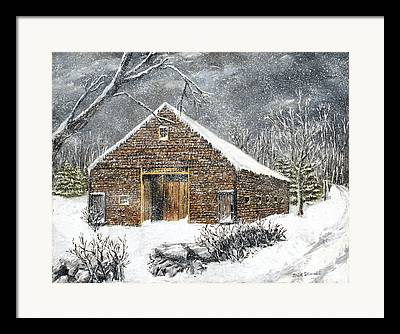 Winterland Scape Framed Prints
