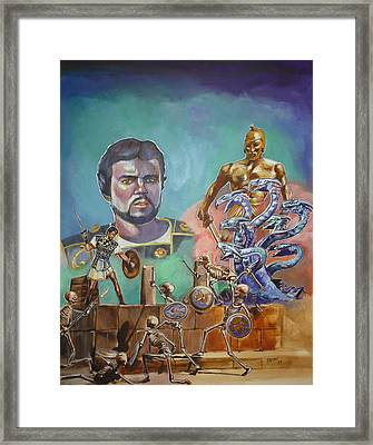Ray Harryhausen Tribute Jason And The Argonauts Framed Print
