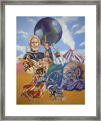 Ray Harryhausen Tribute The Mysterious Island Framed Print