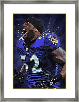 Ray Lewis Framed Print