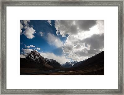 Ray Of The Sky Framed Print by Konstantin Dikovsky