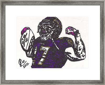 Framed Print featuring the drawing Ray Rice 1 by Jeremiah Colley