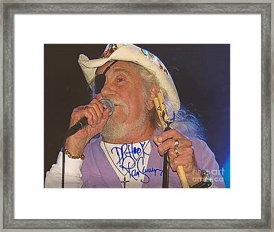 Ray Sawyer Autographed Framed Print by Pd
