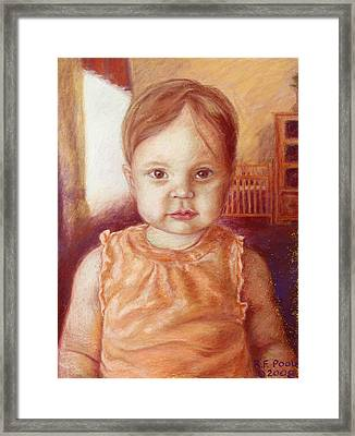 Raylee Ann Framed Print by Rebecca Poole