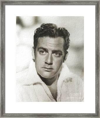 Raymond Burr, Vintage Actor Framed Print