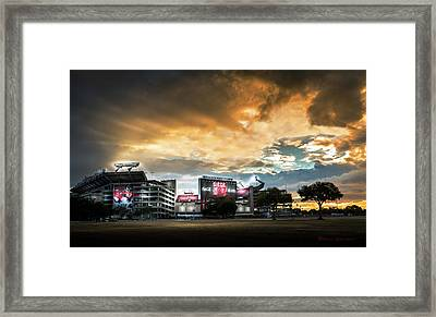Raymond James Stadium Framed Print by Marvin Spates