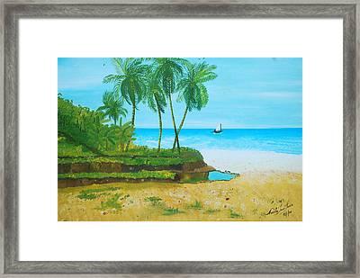 Raymond Les Bains Jacmel Haiti Framed Print by Nicole Jean-Louis