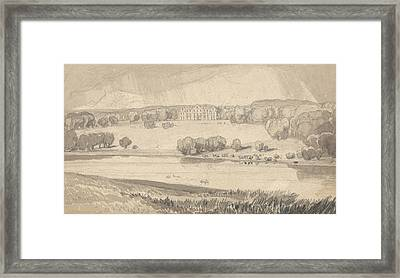 Raynham Hall, Norfolk Framed Print by John Sell Cotman