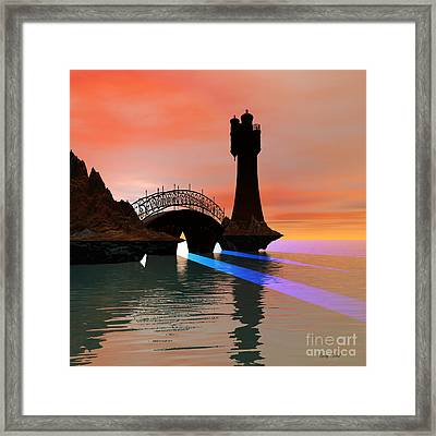 Rays Framed Print by Corey Ford