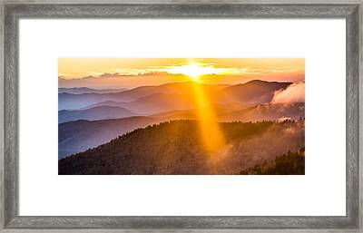 Rays If Gold Framed Print by Shelby Young