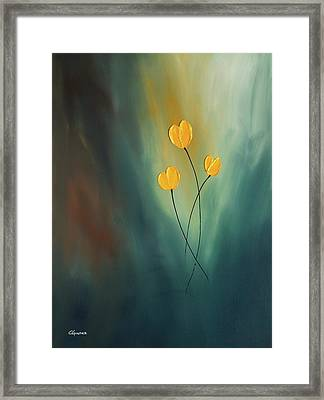 Framed Print featuring the painting Rays Of Hope by Carmen Guedez