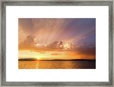 Rays Of Hope Framed Print