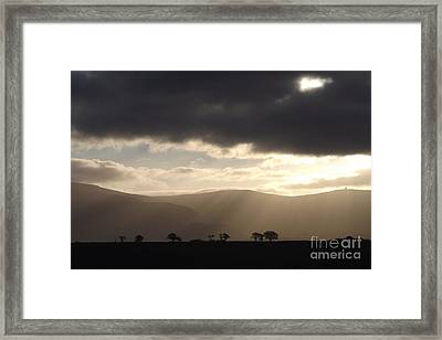 Rays Of Hope Framed Print by Justin Farrimond