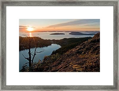 Rays Of Reflection Framed Print by Joel Brady-Power