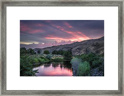 Rays Of Sunset Framed Print by Brad Stinson