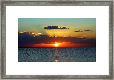 Rays Of Sunset Framed Print