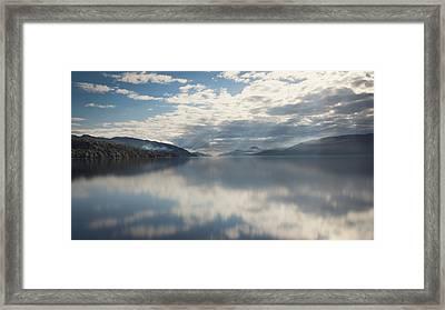 Sun Rays On Loch Ness Framed Print