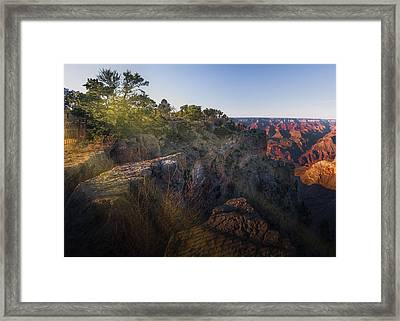 Rays Over The Canyon  Framed Print
