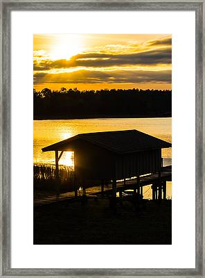 Rays Over The Resting Place Framed Print
