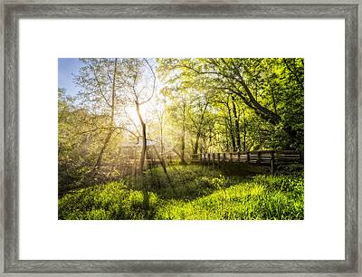 Rays Over The River Walk Framed Print by Debra and Dave Vanderlaan