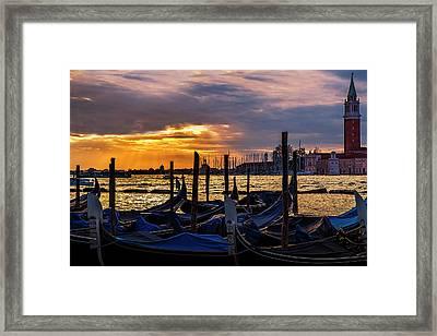 Rays Over Venice Framed Print by Andrew Soundarajan