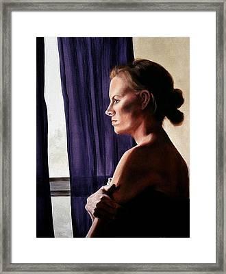 Rays Through Rain Framed Print by Leslie Rhoades