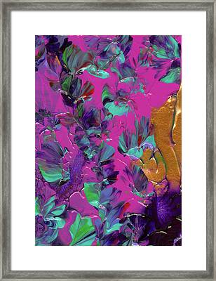 Razberry Ocean Of Butterflies Framed Print