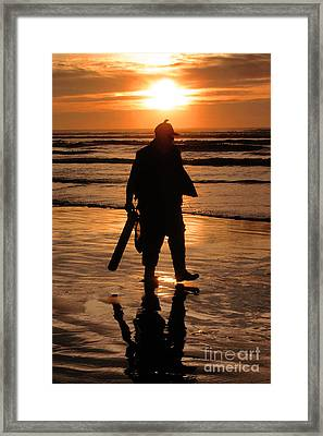 Razor Clam Hunter Framed Print