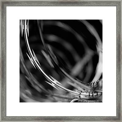 Razor Wire Up Close Framed Print