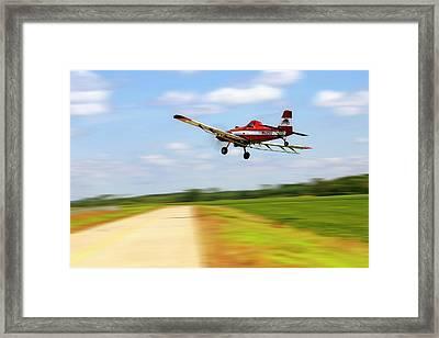 Razorback Flyby - Crop Duster - Ag Pilot Framed Print
