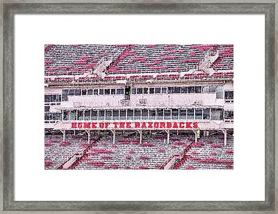 Razorback Stadium Framed Print by JC Findley