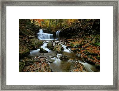 R.b. Ricketts Falls In Autumn Framed Print