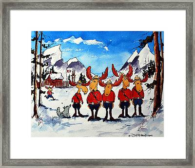 Rcmp  Detachment At Fort Macmoose  Framed Print by Wilfred McOstrich