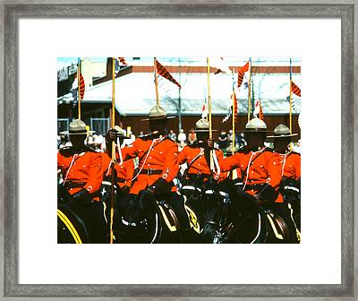 Rcmp Musical Ride Framed Print